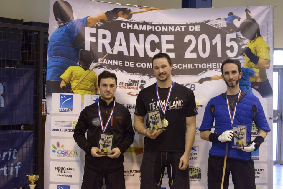 Championnats de France 2015 - Podium masculins